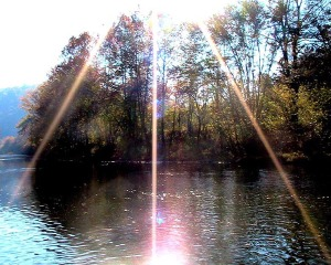 Sunburst over the Clinch River, Southwest Virginia.